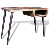 Radni stol od obnovljenog drva sa željeznim nogama