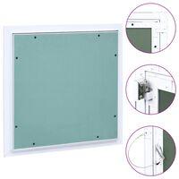 vidaXL Pristupna ploča s aluminijskim okvirom i gipsom 300 x 300 mm