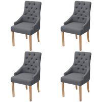 vidaXL Blagovaonske stolice od tkanine 4 kom tamnosive