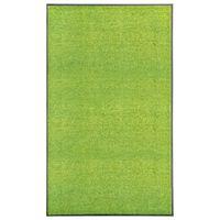 vidaXL Otirač perivi zeleni 90 x 150 cm