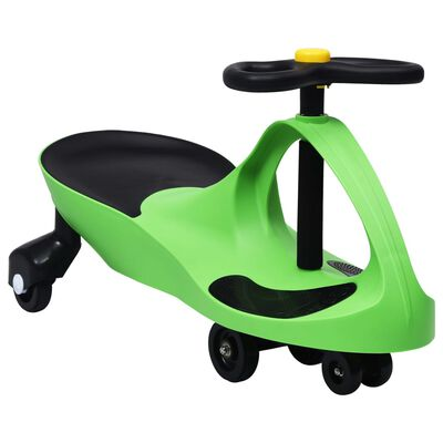 vidaXL Okretni dječji automobil na guranje s trubom zeleni