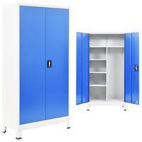 vidaXL Ormar od metala s 2 vrata 90 x 40 x 180 cm sivo-plavi