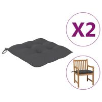 vidaXL Jastuci za stolice 2 kom antracit 50 x 50 x 7 cm od tkanine