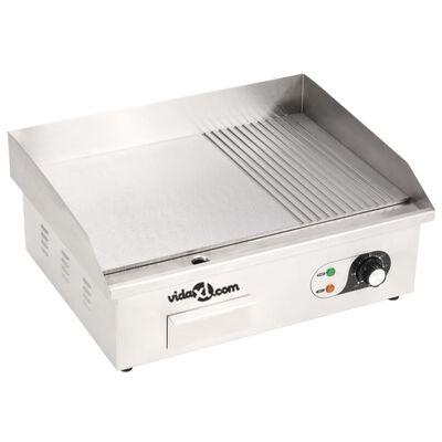 vidaXL Električni roštilj od nehrđajućeg čelika 3000 W 54 x 41 x 24 cm