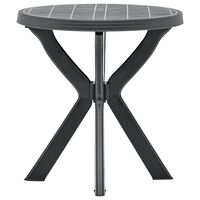 vidaXL Bistro stol antracit Ø 70 cm plastični