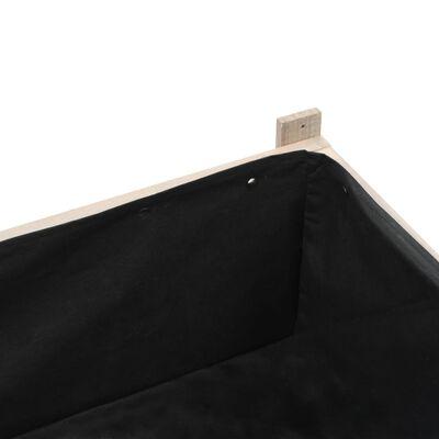 vidaXL Povišena vrtna gredica od jelovine sa staklenikom 120 x 54 x 120 cm