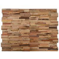 vidaXL 10 kom Zidni Ukrasni Paneli 1 m² od Reciklirane Tikovine