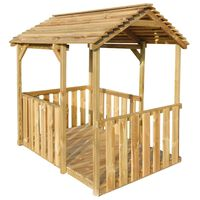 vidaXL Vrtna kućica za igru 122,5 x 160 x 163 cm od borovine