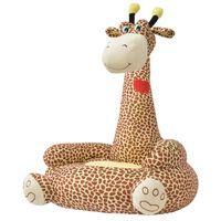 vidaXL Plišana dječja fotelja u obliku žirafe smeđa