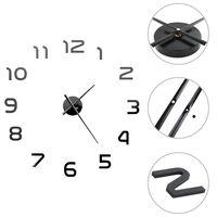vidaXL 3D zidni sat moderni dizajn 100 cm XXL crni