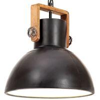 vidaXL Industrijska viseća svjetiljka 25 W tamnocrna okrugla 30 cm E27