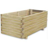 vidaXL Sadilica 100 x 50 x 40 cm drvena pravokutna
