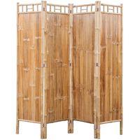 Sobna Pregrada od Bambusa s 4 panela