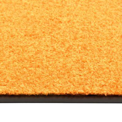 vidaXL Otirač perivi narančasti 90 x 120 cm