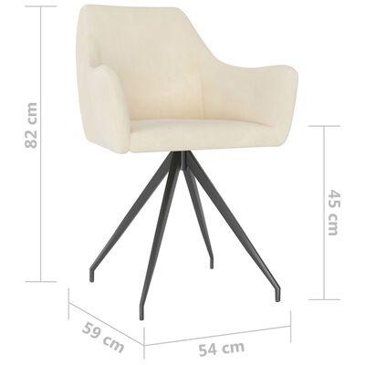 vidaXL Blagovaonske stolice 2 kom krem baršunaste