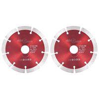 vidaXL Dijamantni diskovi za rezanje 2 kom čelični 125 mm