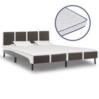 vidaXL Krevet od umjetne kože s memorijskim madracem 180 x 200 cm