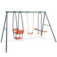 vidaXL Set ljuljački s 5 sjedala narančasti