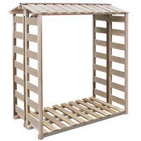 vidaXL Spremište za drva 150 x 100 x 176 cm od impregnirane borovine