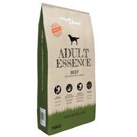 vidaXL Premium suha hrana za pse Adult Essence Beef 15 kg