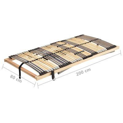 vidaXL Električna podnica za krevet s 42 letvice i 7 zona 80 x 200 cm