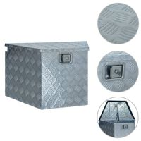 vidaXL Aluminijska kutija 737/381 x 410 x 460 mm srebrna