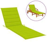 vidaXL Jastuk za ležaljku jarko zeleni 200 x 60 x 4 cm od tkanine
