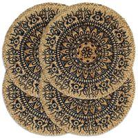 vidaXL Podmetači 4 kom tamnoplavi 38 cm okrugli od jute