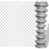 vidaXL Žičana ograda od pocinčanog čelika 25 x 1,5 m srebrna