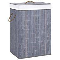 vidaXL Košara za rublje od bambusa siva