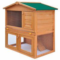 vidaXL Vanjski kavez kućica za male životinje i kućne ljubimce 3 drvena vrata