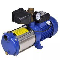 Mlazna pumpa s mjeračem, 1300 W. 5100 l/h, plava