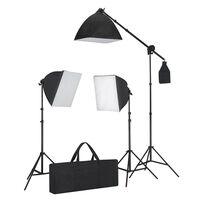 vidaXL Set rasvjete: 3 fotografske svjetiljke sa stativom i softboxom