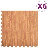 vidaXL Podne prostirke 6 kom s godovima drva 2,16 m² od EVA pjene