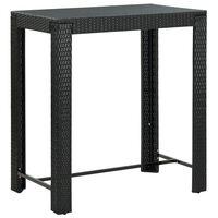 vidaXL Vrtni barski stol crni 100 x 60,5 x 110,5 cm od poliratana
