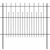 vidaXL Ograda od čelika sa šiljastim vrhovima 600 x 150 cm crna