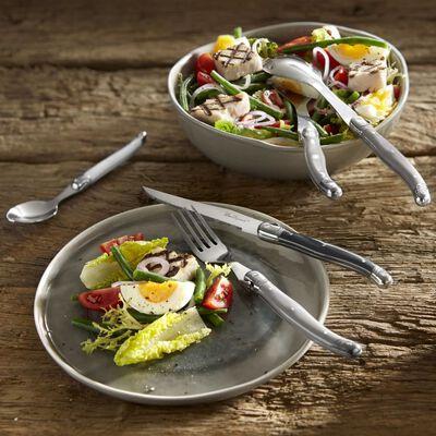 Lou Laguiole 24-dijelni pribor za jelo Tradition smeđe-sivi
