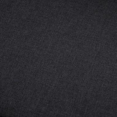 vidaXL Kutna garnitura od tkanine tamnosiva