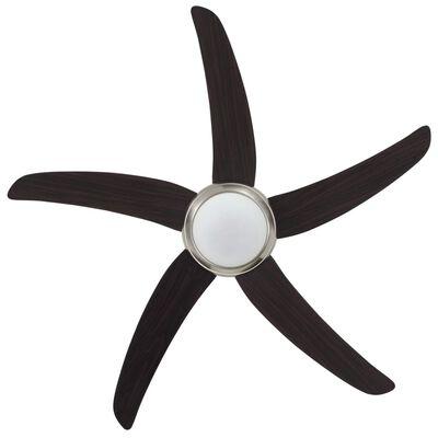 vidaXL Ukrasni stropni ventilator sa svjetlom 128 cm smeđi