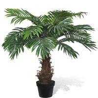 Umjetno stablo Cycus palme s lončanicom, 80 cm