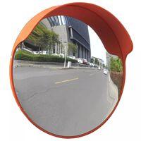 Konveksno vanjsko prometno ogledalo od PC plastike narančasto 45 cm