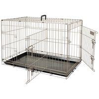 FLAMINGO kavez za kućne ljubimce Ebo metalik smeđi 92x56x64 cm 517582