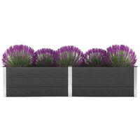 vidaXL Vrtna posuda za sadnju 250 x 100 x 54 cm WPC siva