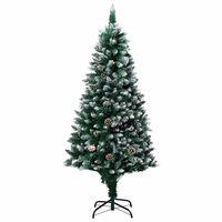 vidaXL Umjetno božićno drvce sa šiškama i bijelim snijegom 180 cm