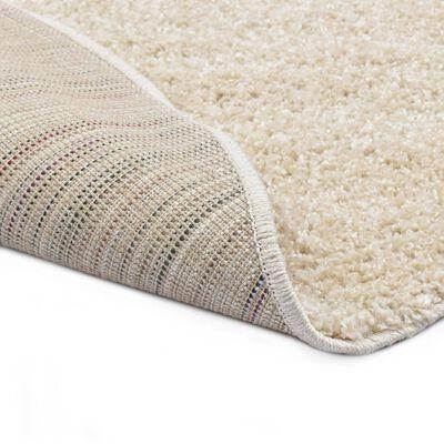 vidaXL Čupavi ukrasni tepih 67 cm bež