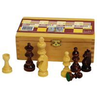 Abbey Game šahovske figure 87 mm crne i bijele 49CL