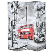 vidaXL Sklopiva sobna pregrada 160 x 170 cm slika londonskog autobusa