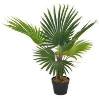 vidaXL Umjetna palma s posudom zelena 70 cm