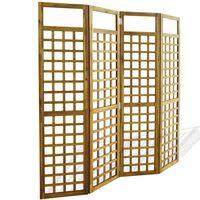 vidaXL Sobna Pregrada/Luk s 4 Panela Masivno Drvo Akacije 160x170 cm