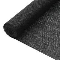 vidaXL Mreža za privatnost crna 1 x 50 m HDPE 195 g/m²